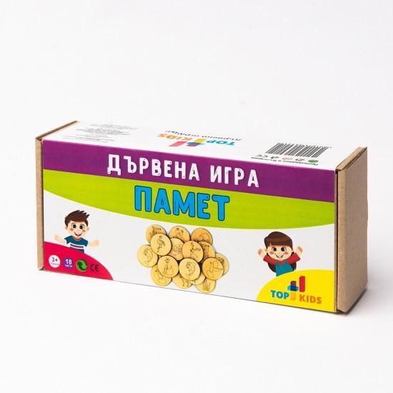Дървена игра памет TopKids