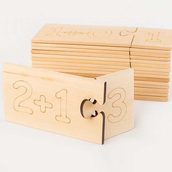 Дървен образователен пъзел TopKids Уча цифрите